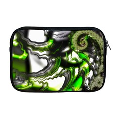 Fractal Green Trumpet Trump Apple Macbook Pro 17  Zipper Case