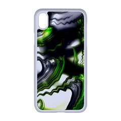 Fractal Green Trumpet Trump Apple Iphone Xr Seamless Case (white)