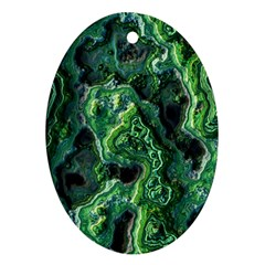Green Pattern Background Abstract Ornament (oval)