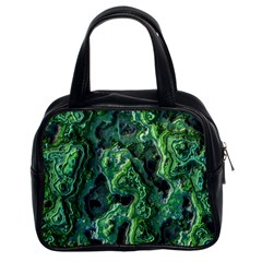 Green Pattern Background Abstract Classic Handbag (two Sides)