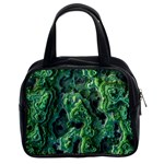 Green Pattern Background Abstract Classic Handbag (Two Sides) Front