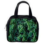 Green Pattern Background Abstract Classic Handbag (Two Sides) Back
