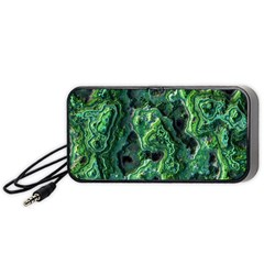 Green Pattern Background Abstract Portable Speaker