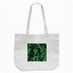 Green Pattern Background Abstract Tote Bag (white)