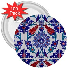 Art Artistic Ceramic Colorful 3  Buttons (100 Pack)