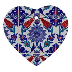 Art Artistic Ceramic Colorful Heart Ornament (two Sides)