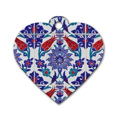 Art Artistic Ceramic Colorful Dog Tag Heart (two Sides)