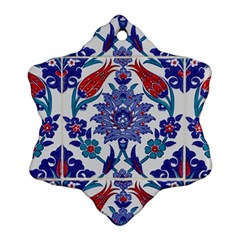 Art Artistic Ceramic Colorful Snowflake Ornament (two Sides)