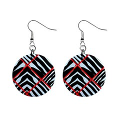 Model Abstract Texture Geometric Mini Button Earrings