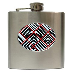 Model Abstract Texture Geometric Hip Flask (6 Oz)