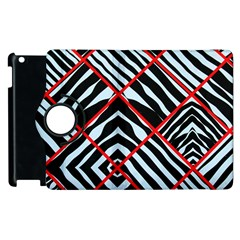 Model Abstract Texture Geometric Apple Ipad 3/4 Flip 360 Case