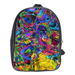 Pattern Structure Background School Bag (large)