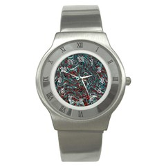 Pattern Structure Background Facade Stainless Steel Watch