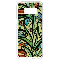 Mosaic Tile Art Ceramic Colorful Samsung Galaxy S8 White Seamless Case by Pakrebo