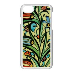 Mosaic Tile Art Ceramic Colorful Apple Iphone 8 Seamless Case (white)