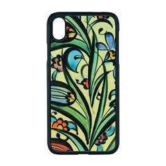 Mosaic Tile Art Ceramic Colorful Apple Iphone Xr Seamless Case (black)