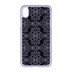 Line Geometry Pattern Geometric Apple Iphone Xr Seamless Case (white)