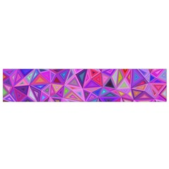 Pink Triangle Background Abstract Small Flano Scarf by Pakrebo