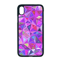 Pink Triangle Background Abstract Apple Iphone Xr Seamless Case (black)