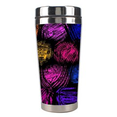 Pattern Background Structure Pink Stainless Steel Travel Tumblers