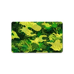 Marijuana Camouflage Cannabis Drug Magnet (name Card)