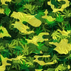 Marijuana Camouflage Cannabis Drug Magic Photo Cube