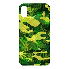 Marijuana Camouflage Cannabis Drug Apple Iphone X Hardshell Case