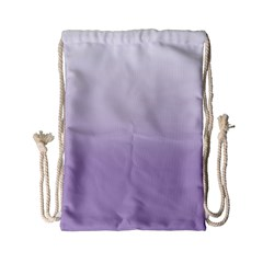Crocus Petal To White  Drawstring Bag (small)