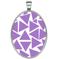 Crocus Petal Triangles  Oval Necklace by TimelessFashion