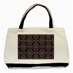 Timeless Black And Crocus Petal  Basic Tote Bag