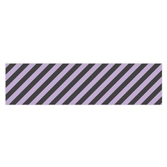 Diagonal Stripes In Crocus Petal And Black  Satin Scarf (oblong) by TimelessFashion
