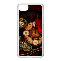 Steampunk, Wonderful Clockswork Apple Iphone 7 Seamless Case (white) by FantasyWorld7