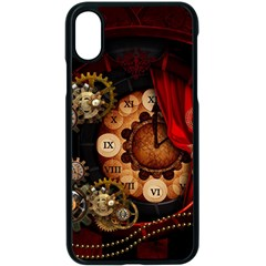 Steampunk, Wonderful Clockswork Apple Iphone Xs Seamless Case (black)