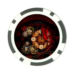 Steampunk, Wonderful Clockswork Poker Chip Card Guard (10 Pack)
