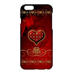 Wonderful Heart With Roses Apple Iphone 6 Plus/6s Plus Hardshell Case by FantasyWorld7
