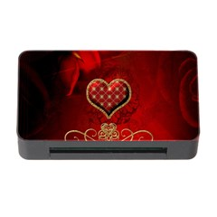 Wonderful Heart With Roses Memory Card Reader With Cf