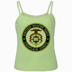Seal Of United States Navy Chaplain Corps Green Spaghetti Tank by abbeyz71