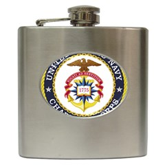 Seal Of United States Navy Chaplain Corps Hip Flask (6 Oz) by abbeyz71