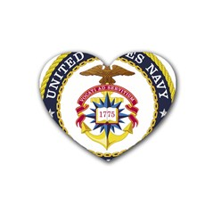 Seal Of United States Navy Chaplain Corps Rubber Coaster (heart)  by abbeyz71