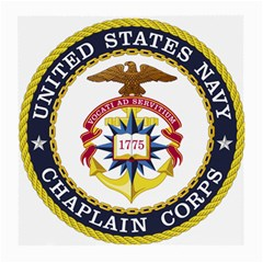 Seal Of United States Navy Chaplain Corps Medium Glasses Cloth (2 Side) by abbeyz71