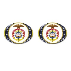 Seal Of United States Navy Chaplain Corps Cufflinks (oval)