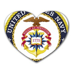 Seal Of United States Navy Chaplain Corps Heart Mousepads