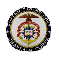 Seal Of United States Navy Chaplain Corps Standard 15  Premium Round Cushions