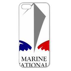 Logo Of French Navy Apple Seamless Iphone 5 Case (clear)