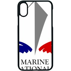 Logo Of French Navy Apple Iphone X Seamless Case (black) by abbeyz71