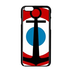 Roundel Of French Naval Aviation Apple Iphone 6/6s Black Enamel Case