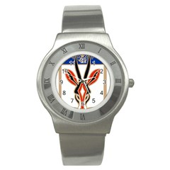 Squadron 21f Insignia Of French Naval Patrol And Maritime Surveillance Aviation Stainless Steel Watch