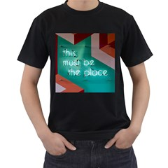 This Must Be The Place    Men s T Shirt (black) (two Sided)