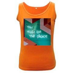 This Must Be The Place    Women s Dark Tank Top