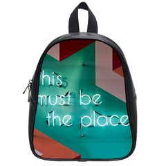 This Must Be The Place    School Bag (small) by WensdaiAddamns